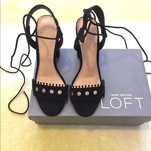 LOFT Shoes - LOFT Strappy Cutout Block Heels - NWOT